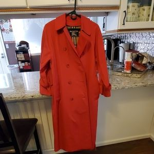 Red Burberry Ladies long trench coat